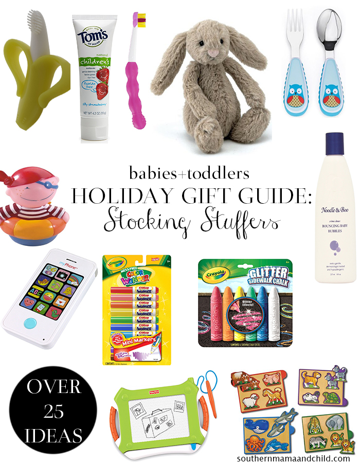 Holiday Gift Guide: Toddler and Baby Stocking Stuffer Ideas