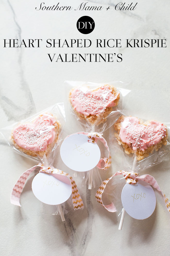 DIY Rice Krispie Treat Valentine's