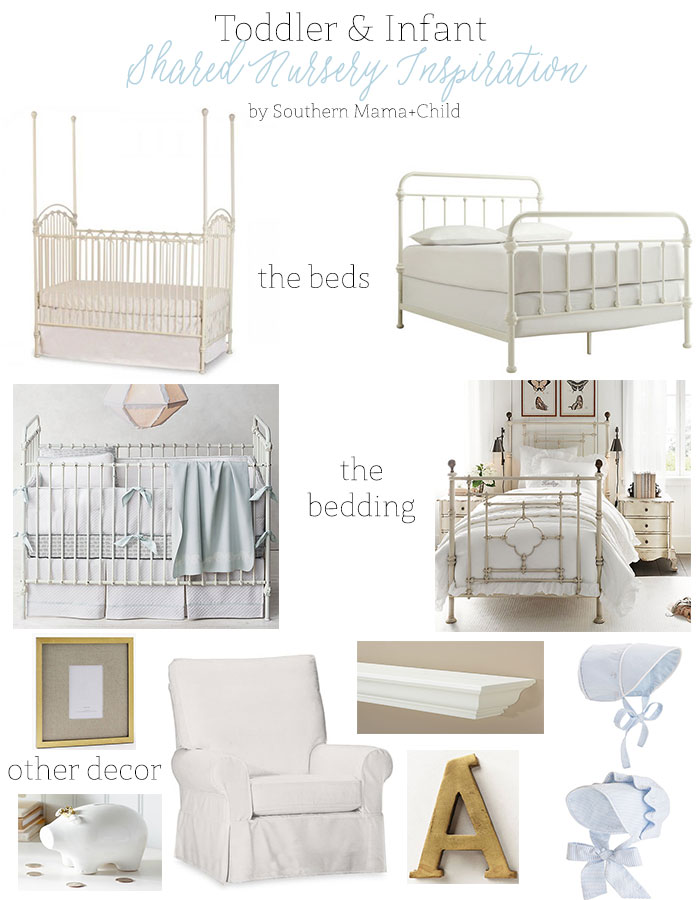 Toddler and Infant Shared Nursery Room Inspiration