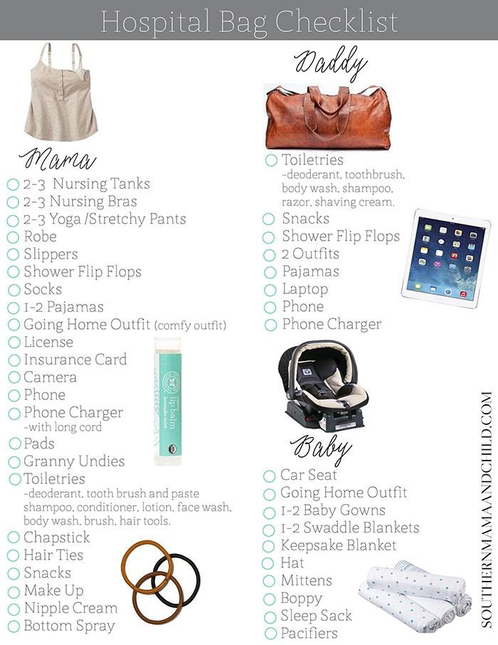 Hospital Bag Checklist + Free Printable