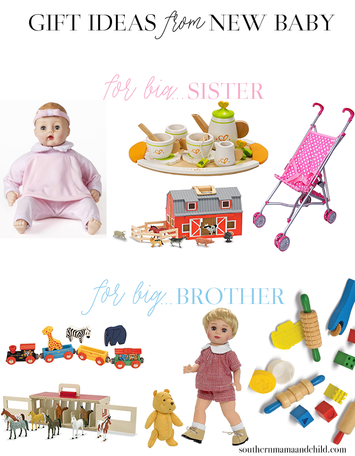 Gift Ideas from New Baby to Big Brother or Sister!