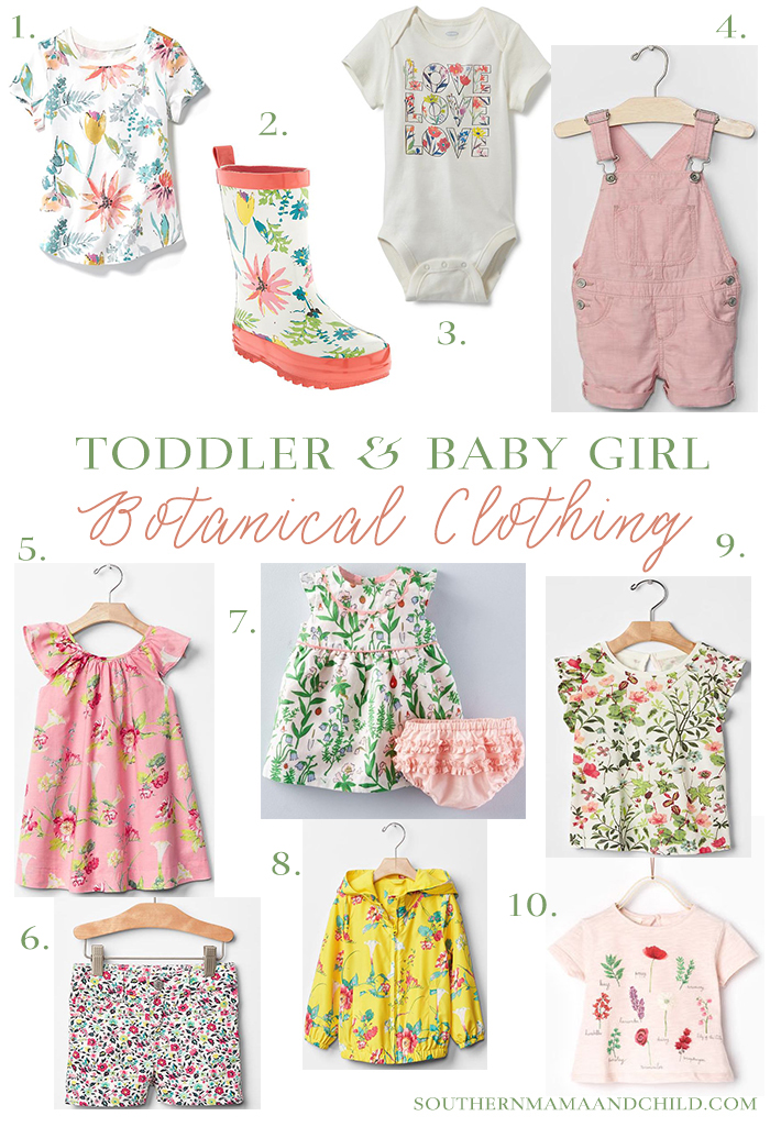 Baby and Toddler Girl Botanical Clothing