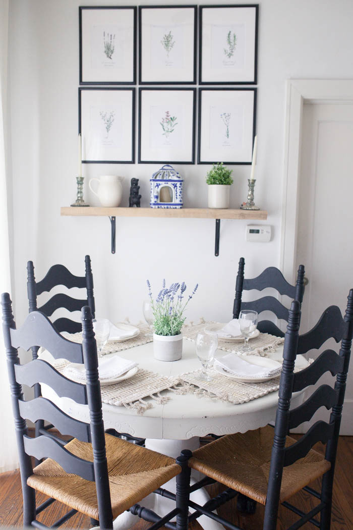 Our Kitchen Nook + Neutral Summer Place Setting