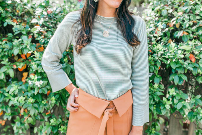 Camel Skirt and Cut Out Sweater // LOFT 50% off Sale Picks