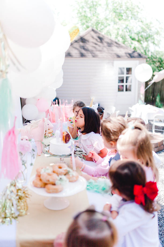 Scarlett S Donut And Unicorn 5th Birthday Party Southern