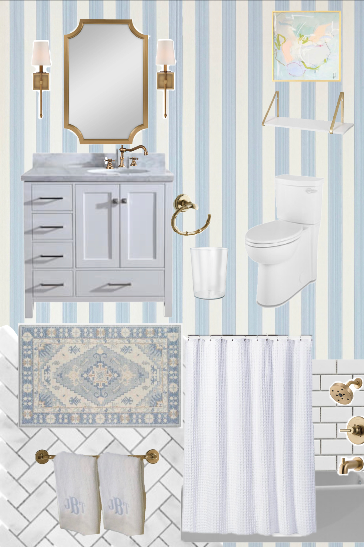 Our Small Bathroom Reno Design Board