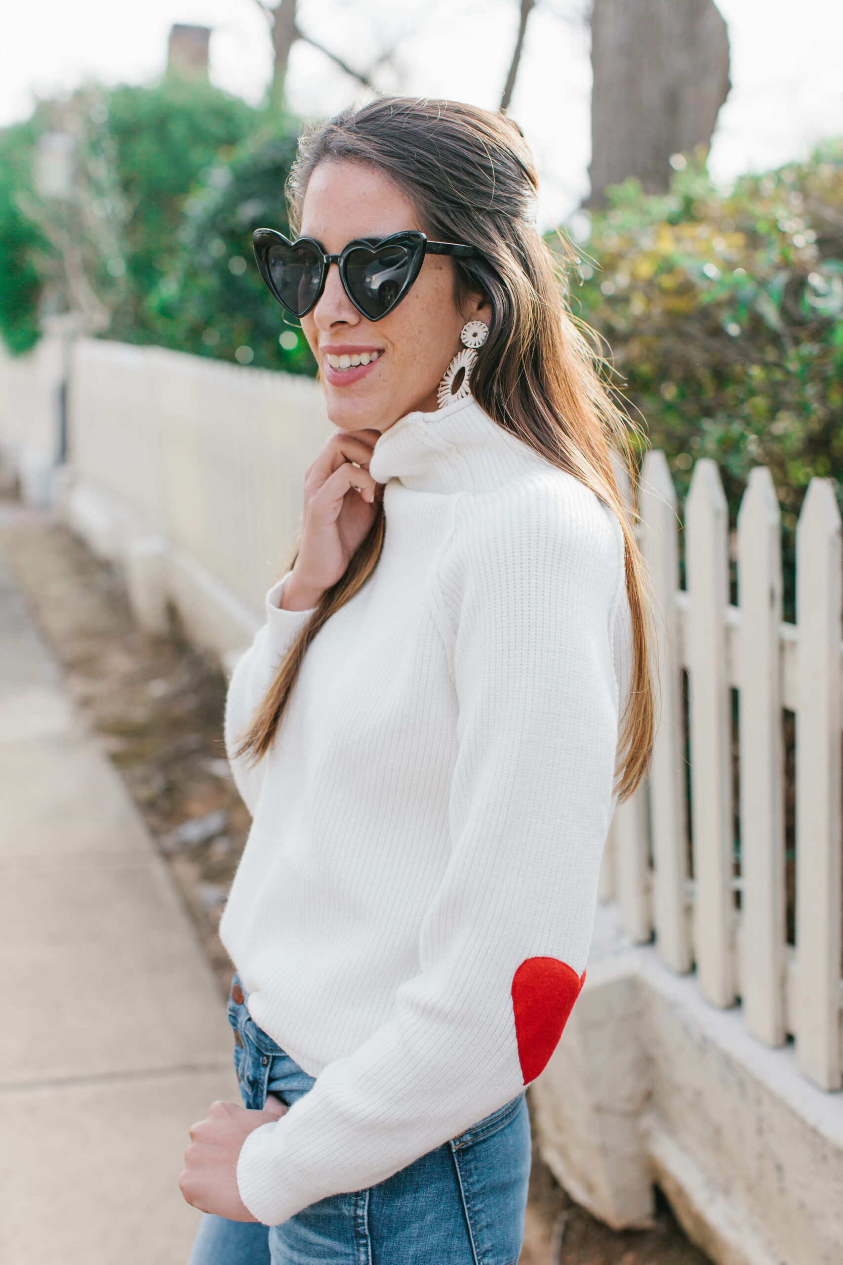The Coziest Heart Sweater for Valentines
