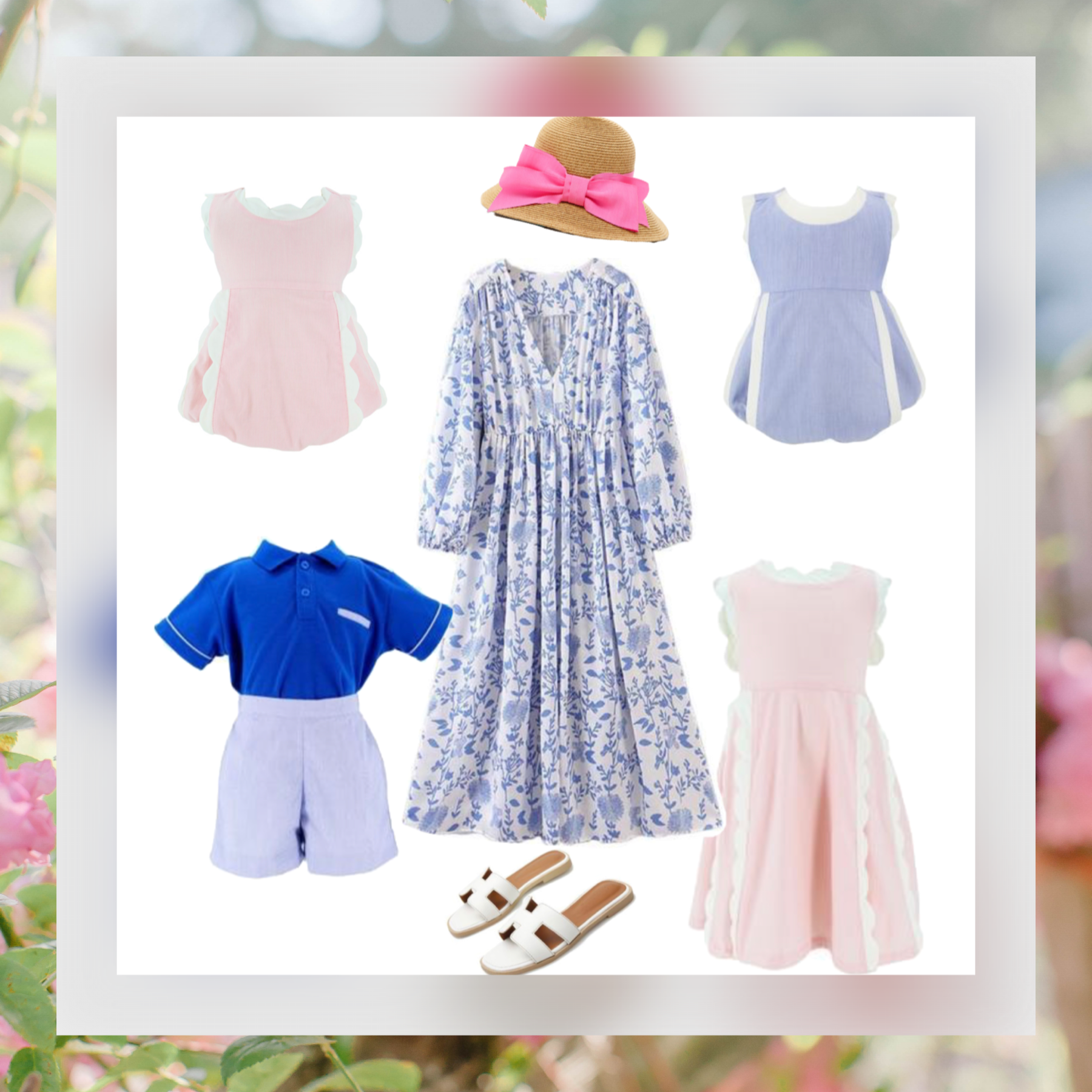 Mommy and Children Coordinating Summer Outfits
